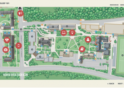 Capture campus map