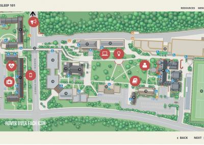 Capture campus map